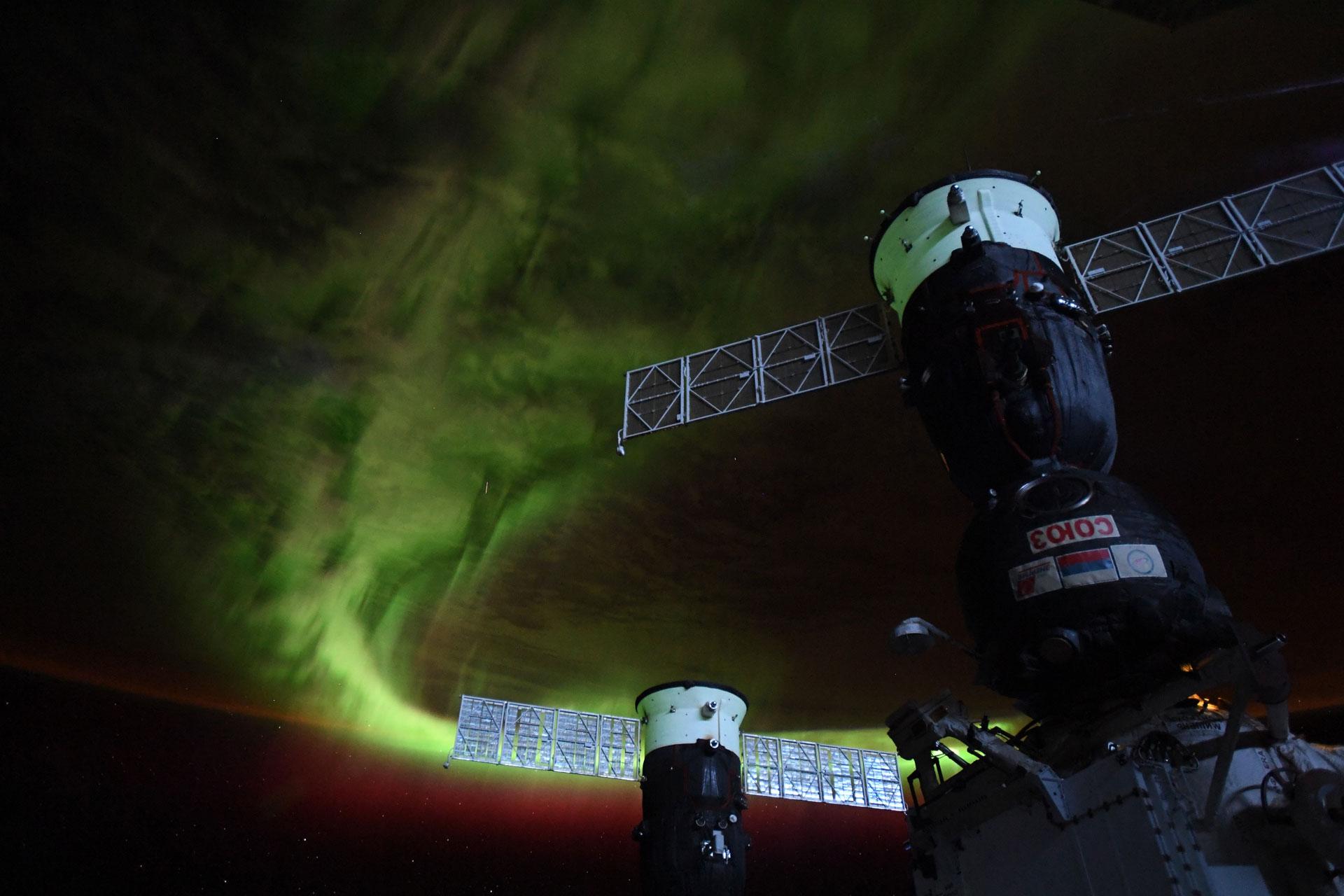 Sydsken sett från rymdstationen
