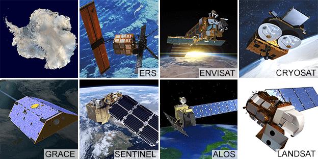 Antarktiska isar döps efter kända satelliter