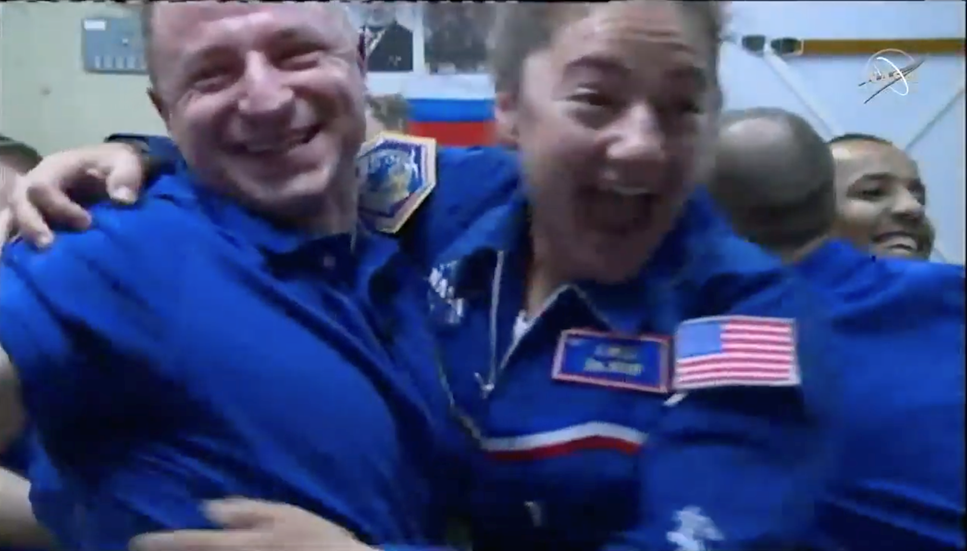 Jessica Meir framme på rymdstationen!