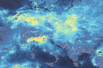 Covid-19 leder till lägre halter av kvävedioxid i atmosfären