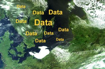 Satellitbild över Sverige