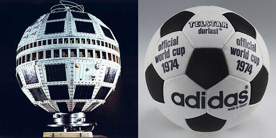 Satelliten som gav designen till den klassiska fotbollen