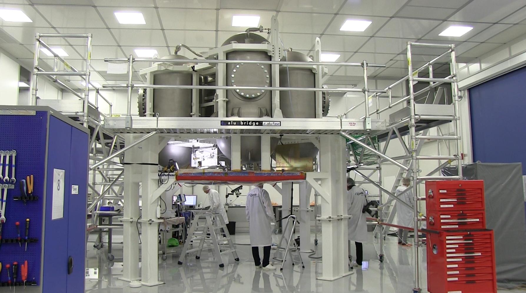Modell av raketmotordelen till Nasa:s nästa rymdfarkost Orion.