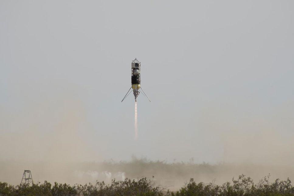 Test av Psionics NASA-licensierade navigation doppler lidar vid landning, 10/9 2020.