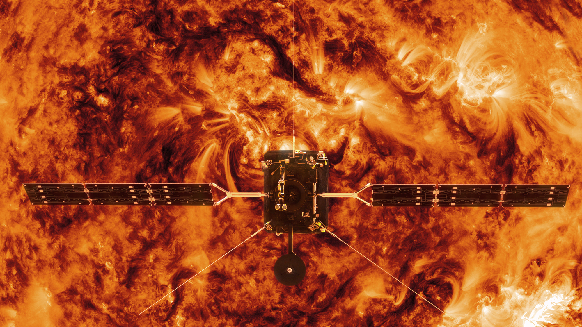Solsatelliten Solar Orbiter lämnar Europa