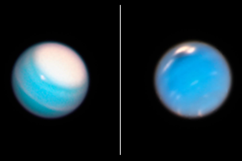 Hubble studerar vädret på Uranus och Neptunus