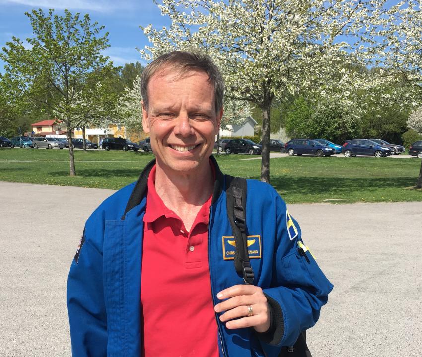 Christer Fuglesang på skolturné i Norrland