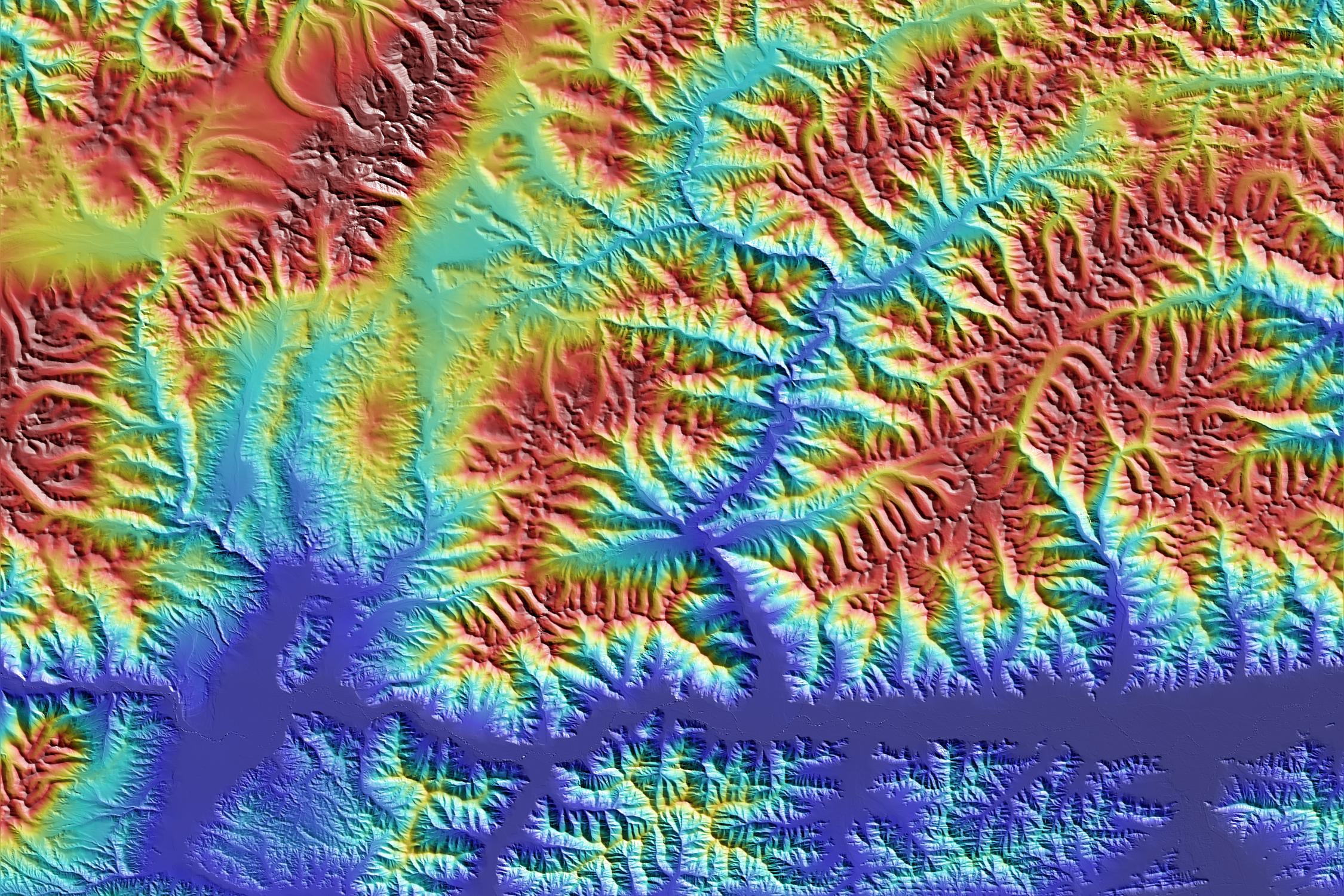 3D-karta över hela jorden
