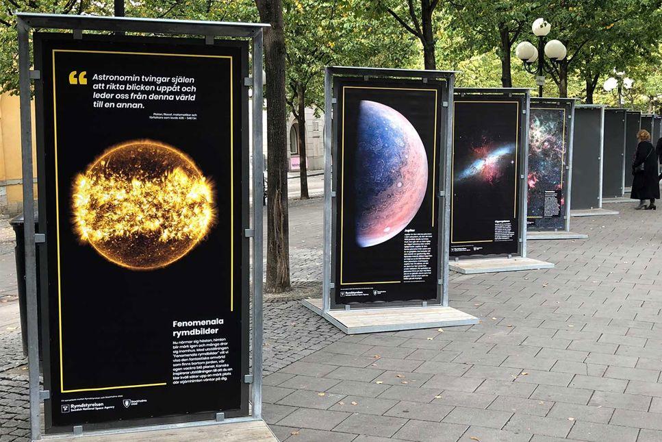 """Se utställningen """"Fenomenala rymdbilder"""" i Stockholm eller här på webben"""