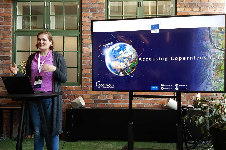 Rymdstyrelsen deltog i hackathon med Copernicusdata