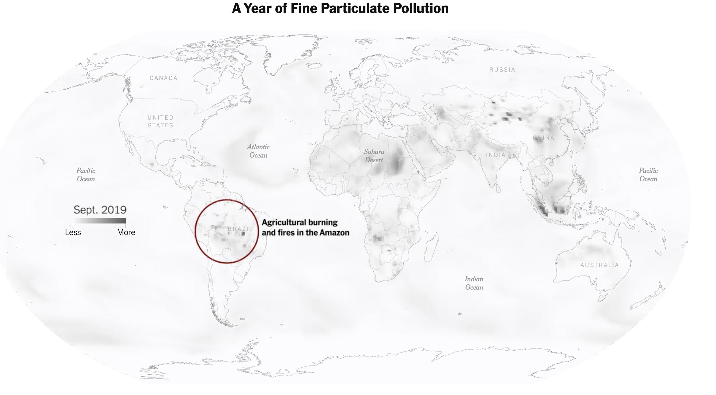 Copernicus-satelliter mäter luftföroreningar i världen