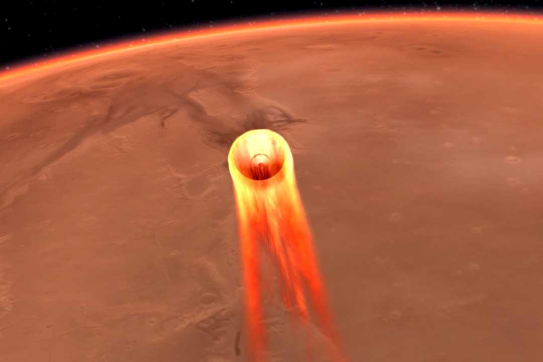 Insight landar på Mars – tusentals steg måste gå rätt