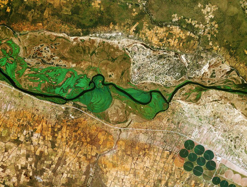 Dagens bild: Okavangofloden i Afrika