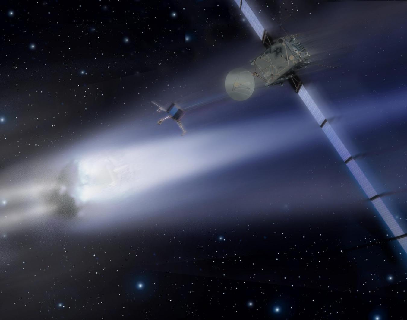 Bilder på Rosetta och kometen