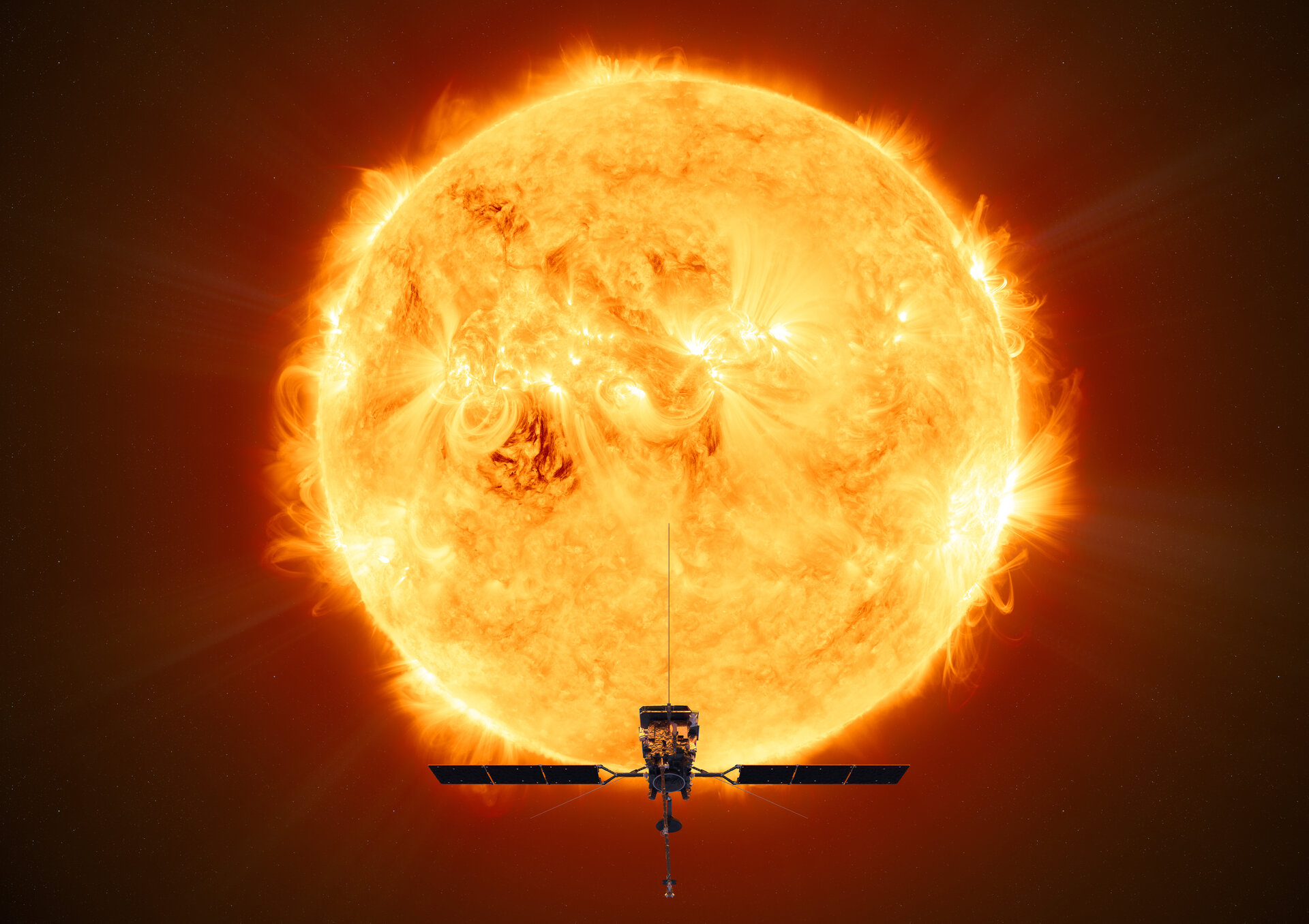 Illustration av Solar Orbiter