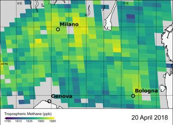 Satelliter ger detaljerade bilder av växthusgaser