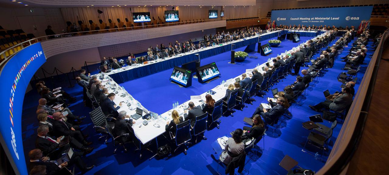 Sveriges europeiska rymdsamarbete – Esas ministerrådsmöte hero