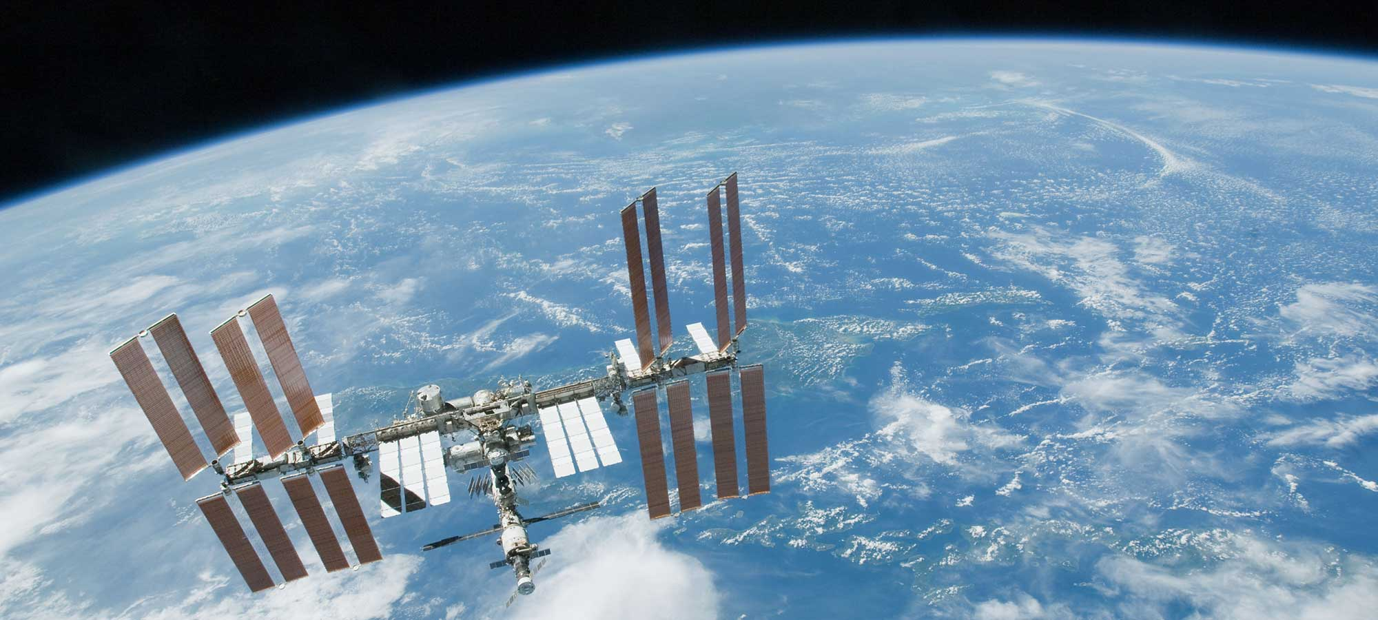 Internationella rymdstationen ISS hero