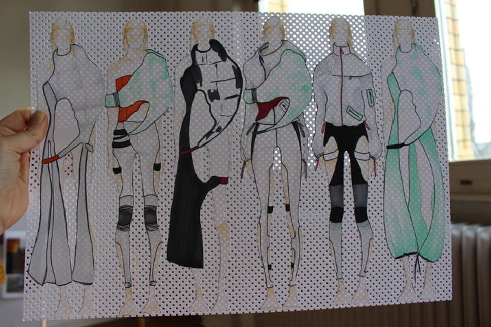 Skisser av framtidens mode.
