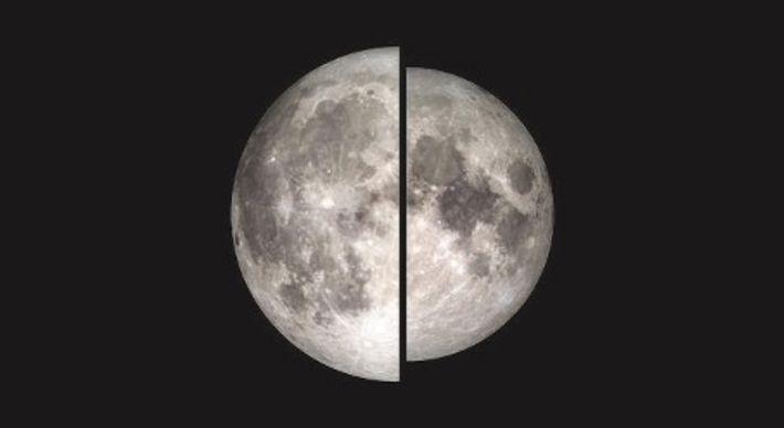 Månen vid perigeum jämförd med månen vid apogeum.