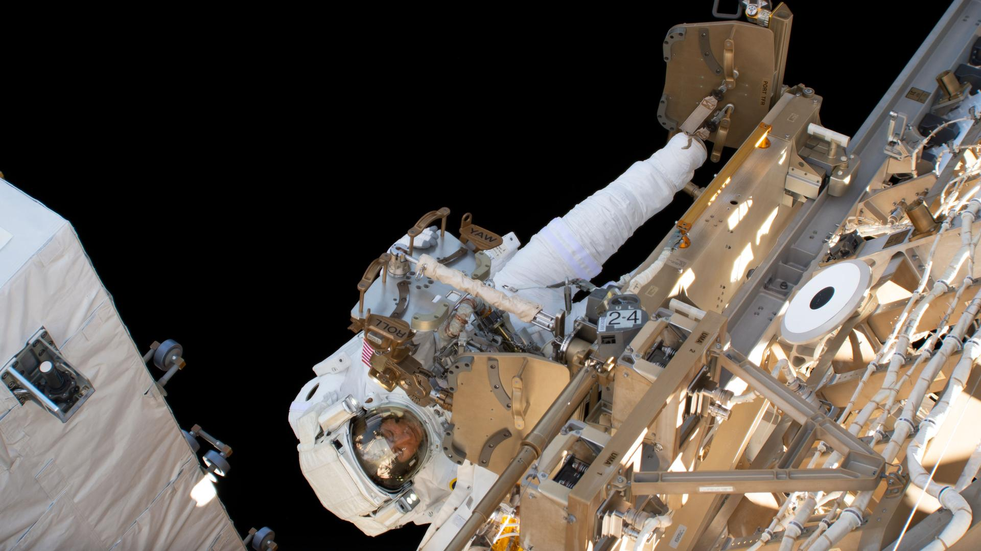 Jessica Meirs första rymdpromenad
