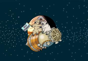 Nytt skolmaterial tar med elever på spännande rymdresa