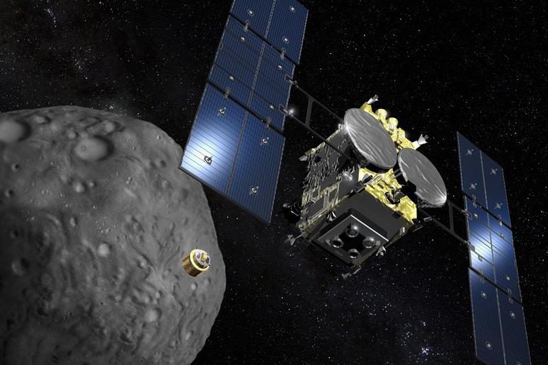 Japansk rymdsond skickar ner landare på asteroid