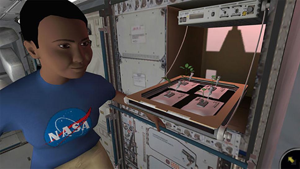 Plantera växter på ISS i nytt spel