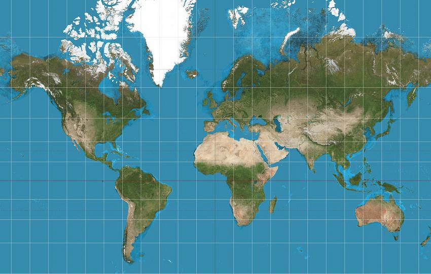 karta jorden Hur avbildar man en rund jord på en platt karta?   Rymdstyrelsen karta jorden