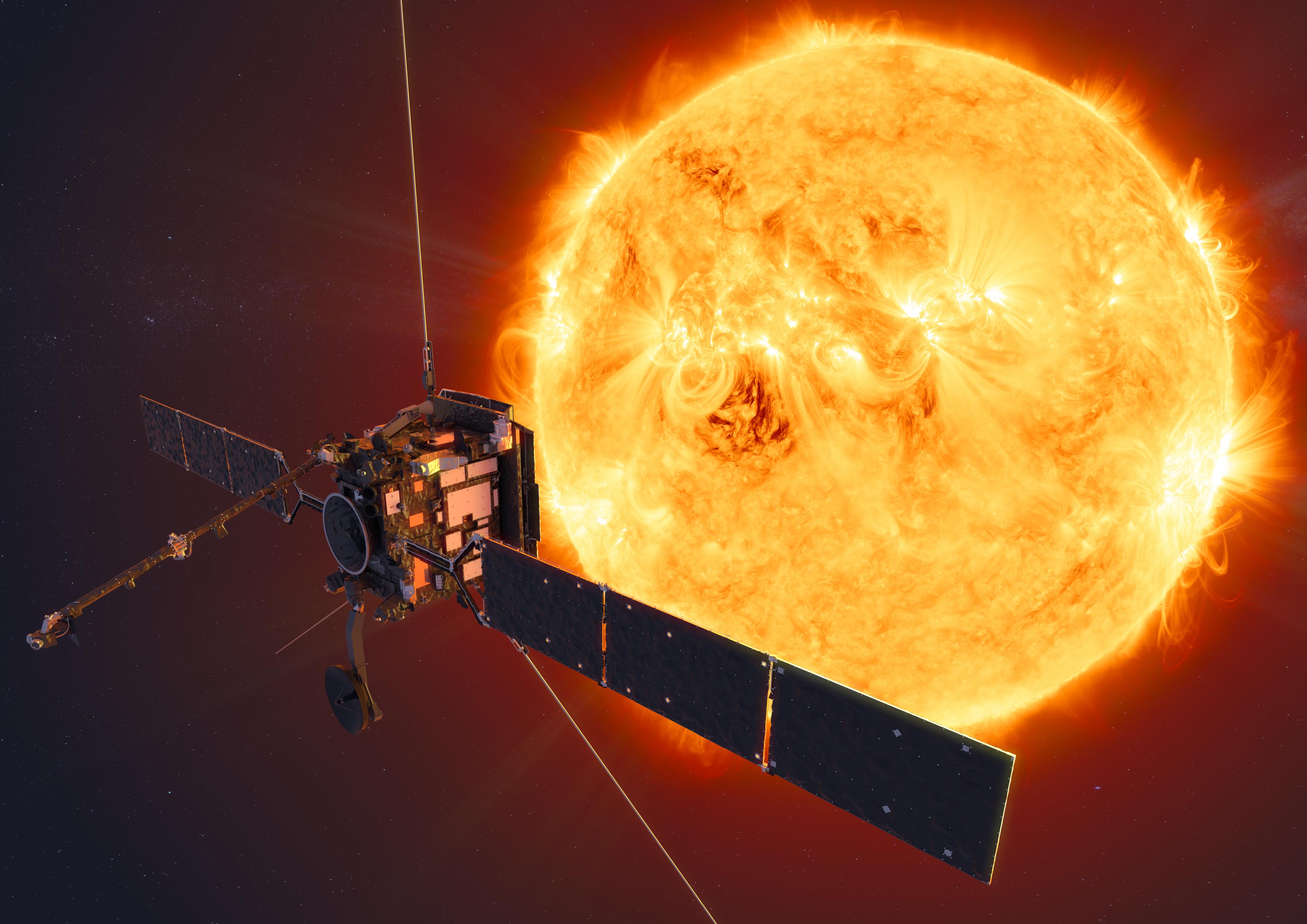 Solar Orbiter flyger genom kometsvans på vägen mot solen
