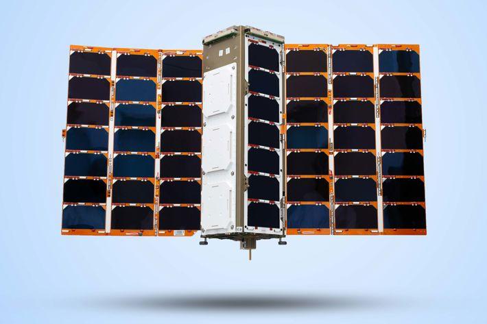 Spire Global UK:s nanosatellit som ska övervaka världens alla fartyg.