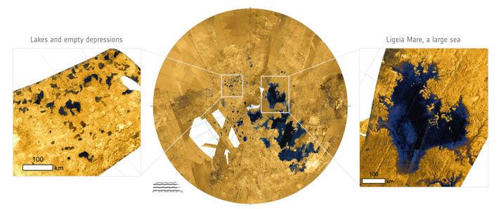 Sjöar och hav på Titan