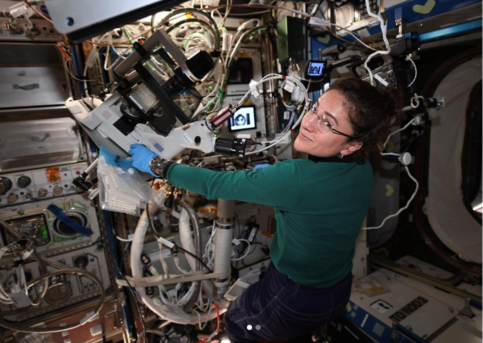 Jessicas första vecka på rymdstationen