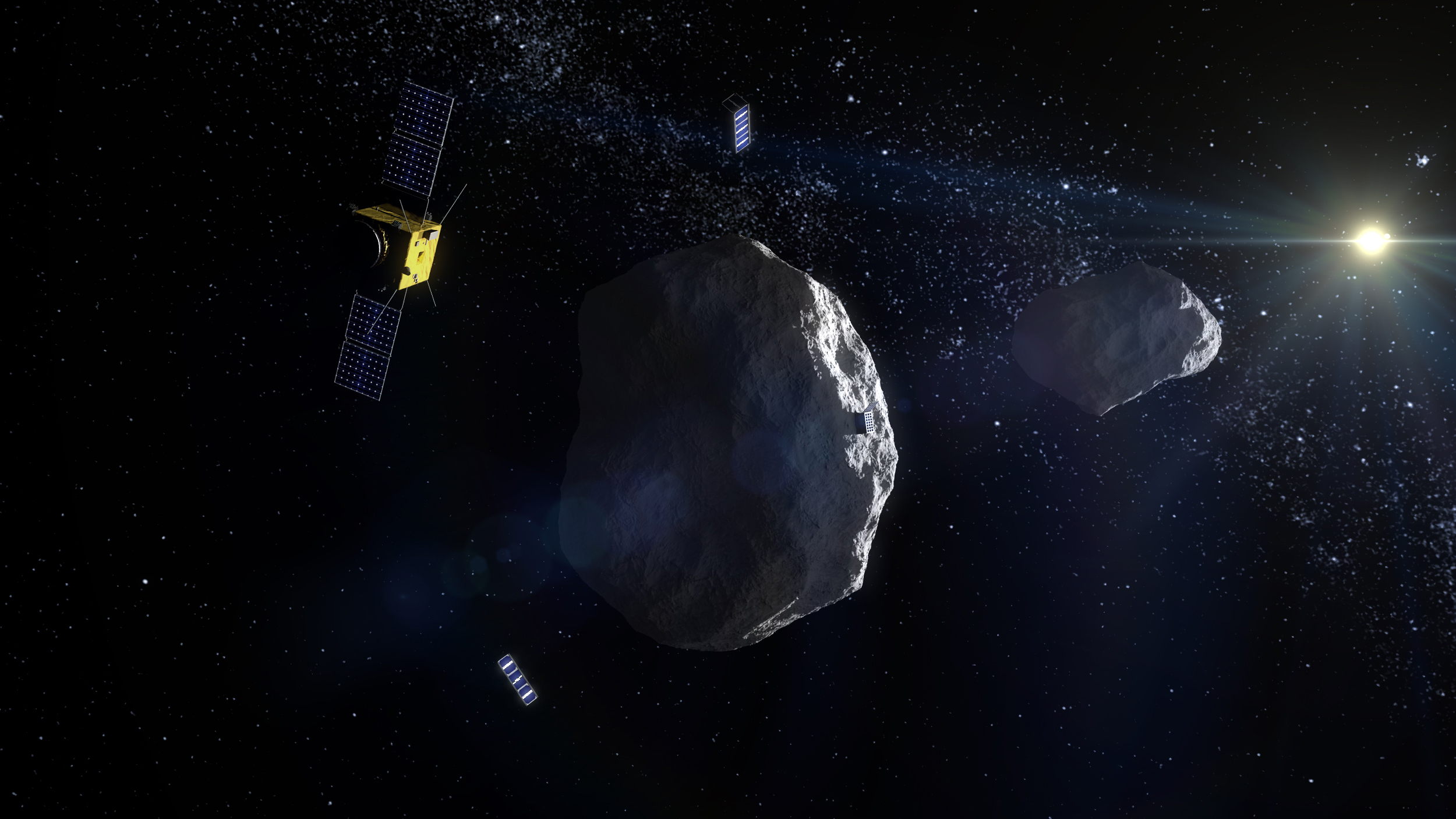 Asteroid i rymden