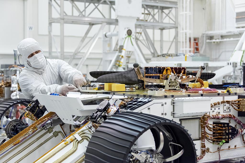 Världens första rymdhelikopter
