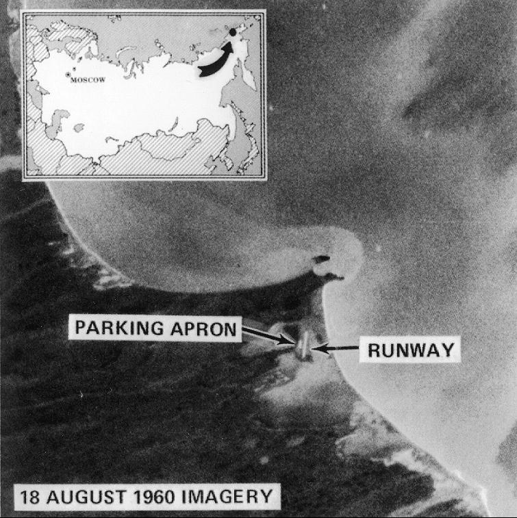 Satellitbild från 1960-talet.