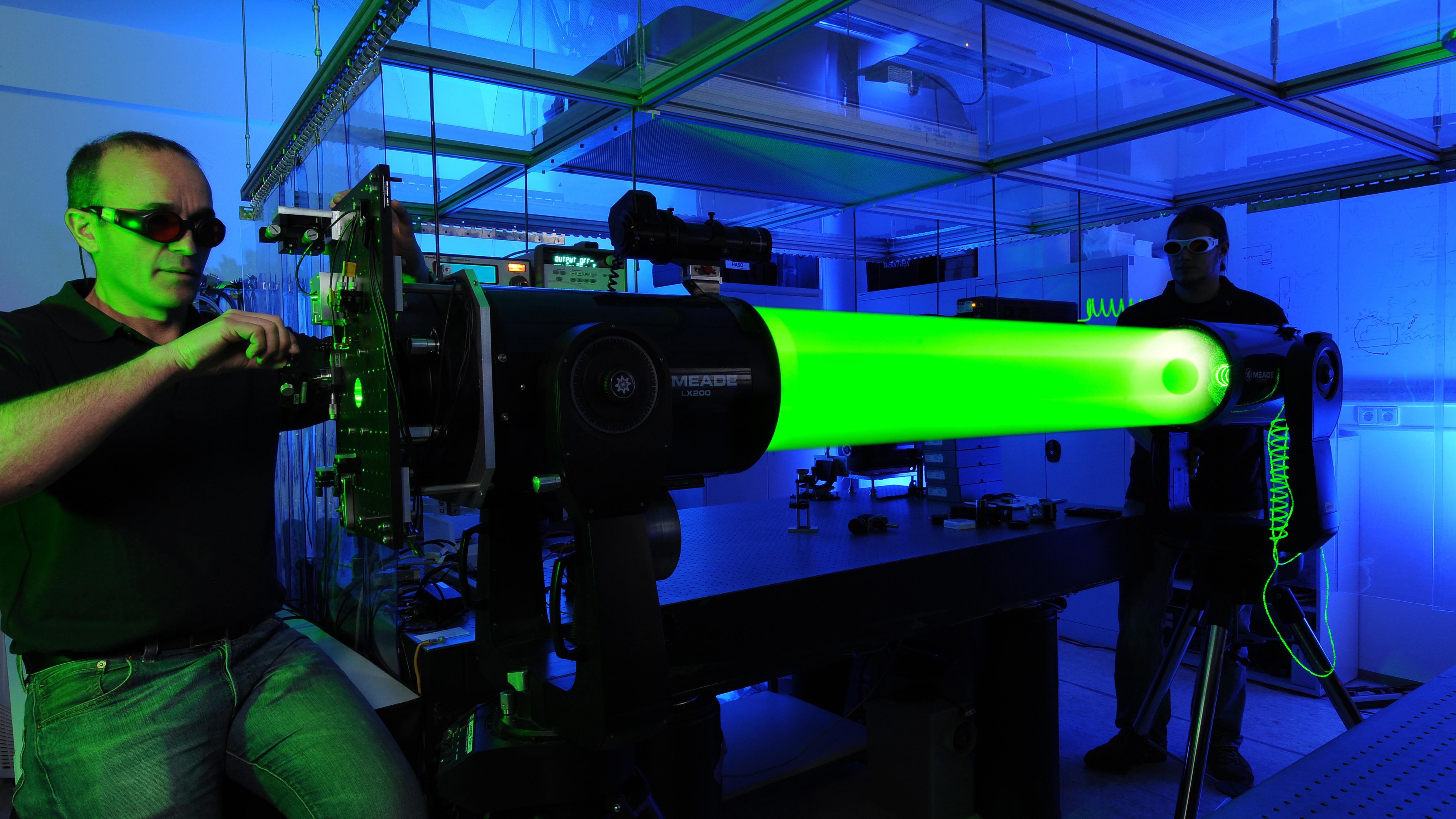 Häftig bild över en laser.