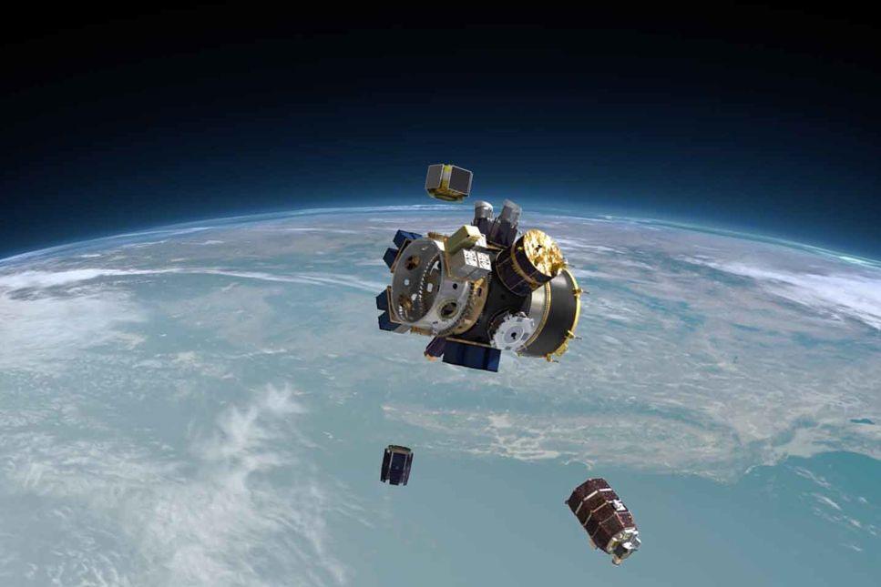 64 satelliter på en och samma raket
