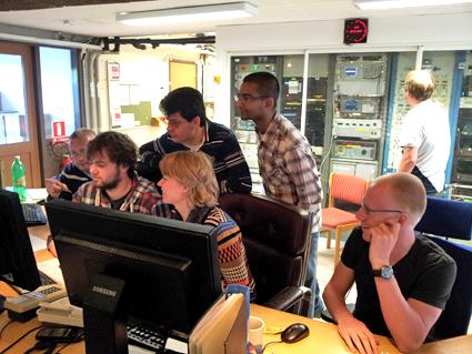 Hälsningar från sommarskolan på Onsala rymdobservatorium