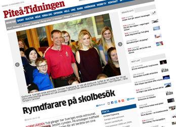 Christer Fuglesang besökte skolor i Norrbotten