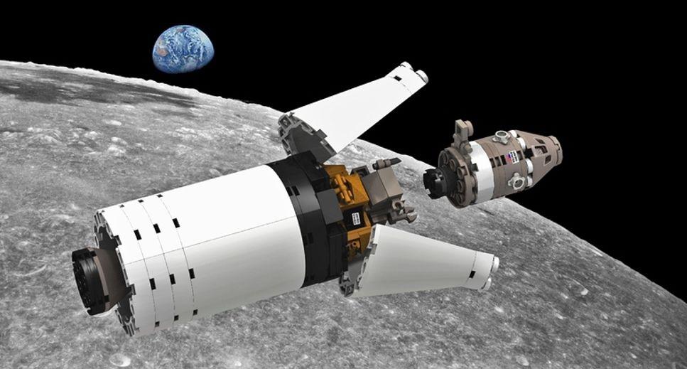 Nu finns Nasa Apollo Saturn V som Lego