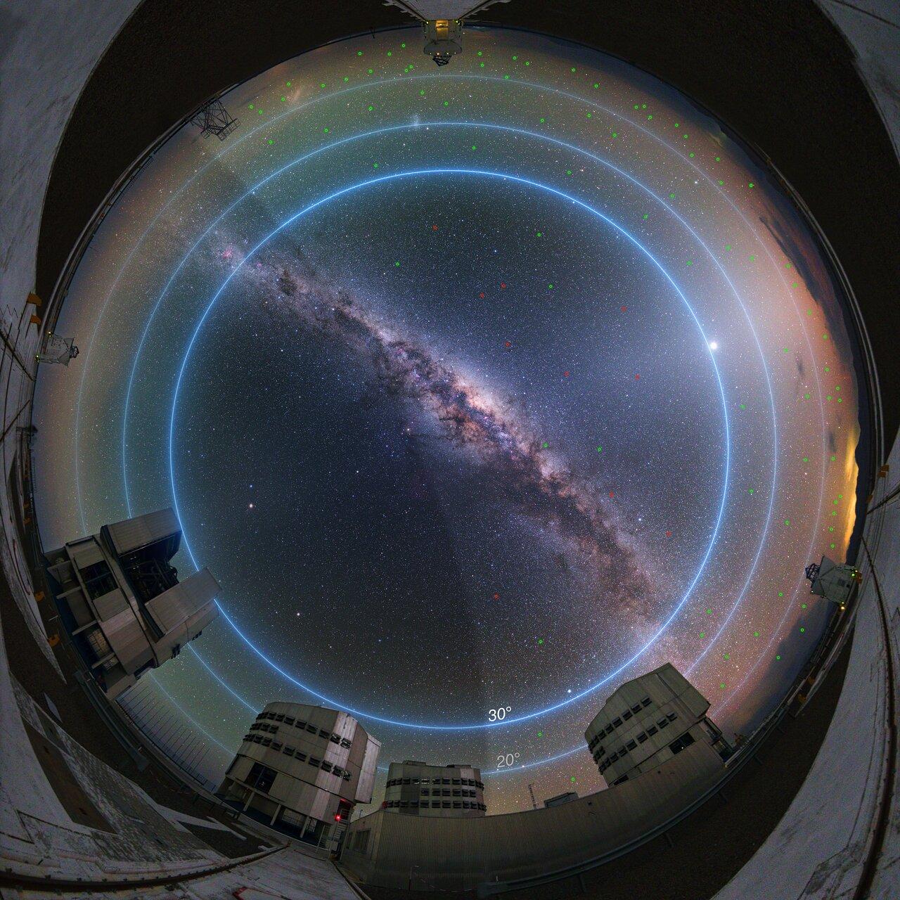 Synliga satelliter stör astronomin