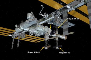 Liten läcka lagad på rymdstationen