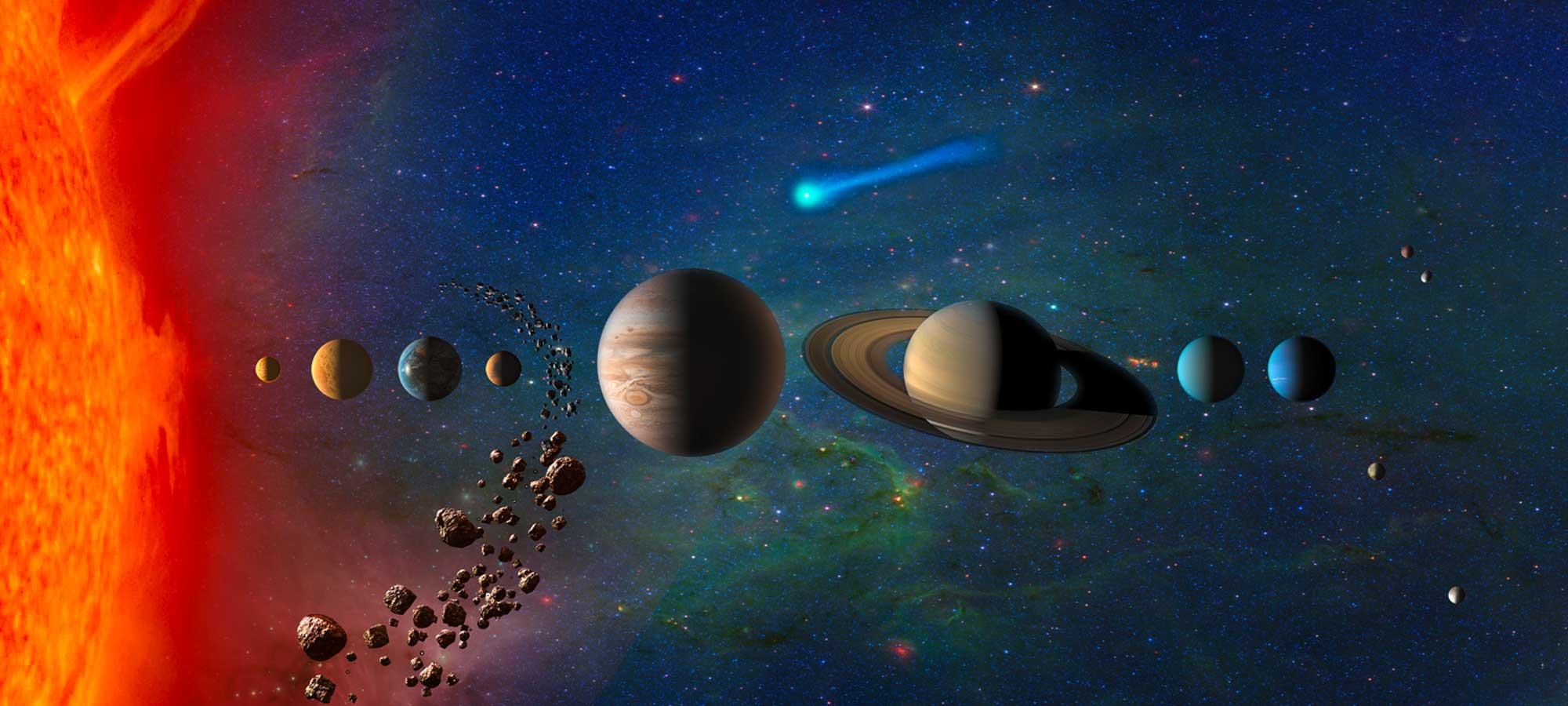 Avståndet mellan planeterna