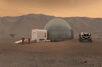 De första husen på Mars kan bestå av is