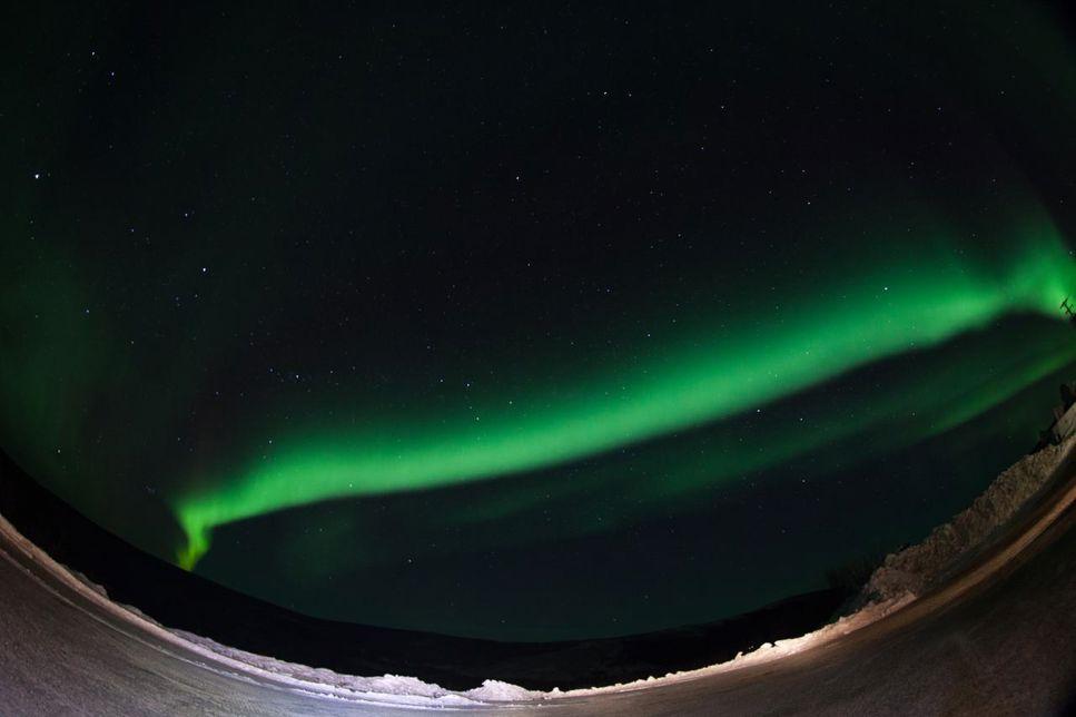 Norrsken över Alaska.