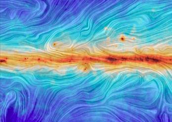 Vintergatans magnetfält ser ut som en Vincent van Gogh-tavla