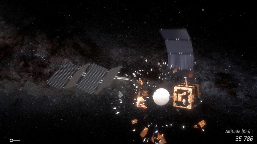 Vad händer när satelliter krockar?