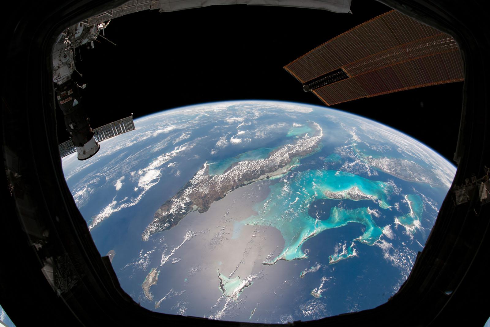 Fönster från ISS