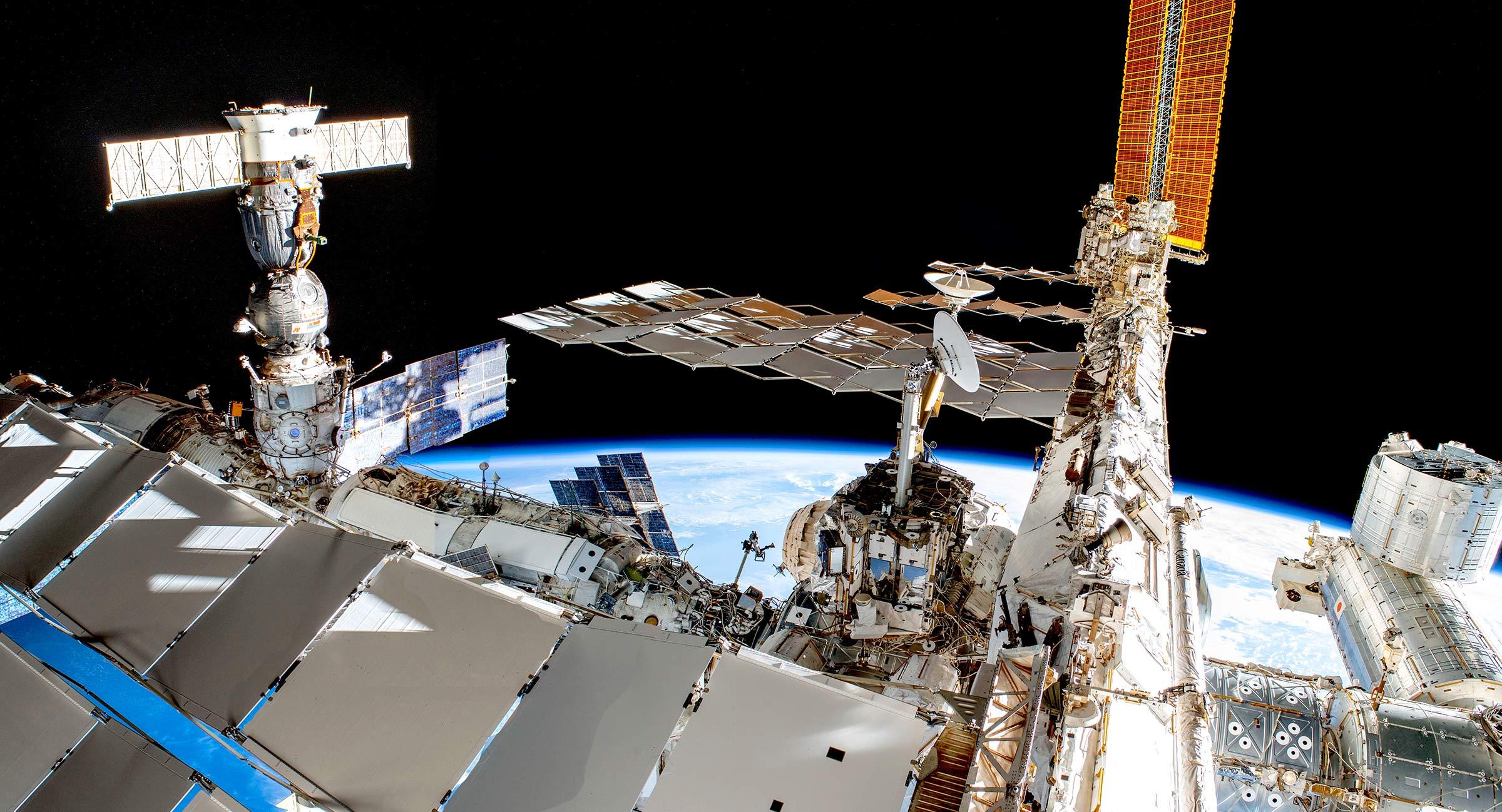 Vy över ISS